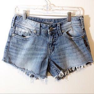 Silver suki Cutoffs Upcycled Shorts 28